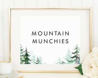 Mountain Munchies - Printable or Printed - 8x10 - Other sizes available - Greatest Adventure