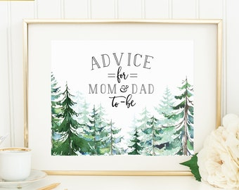 Advice for Mom & Dad - Printable or Printed - 8x10 - Other sizes available - Greatest Adventure