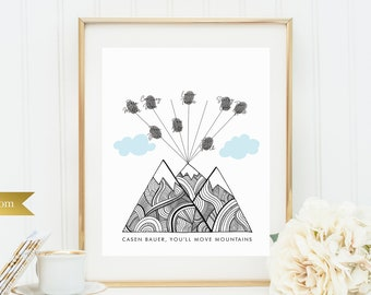 Thumbprint Guest Book - Printable or Printed - 8x10 - Greatest Adventure