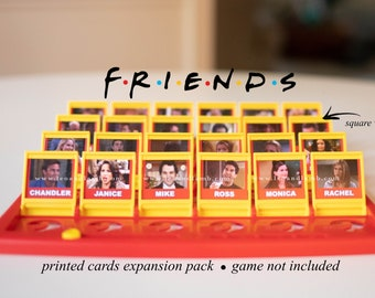 PRINTED CARDS - Friends Guess Who Game cards - Friends TV show - Guess Who Game - Game Not Included