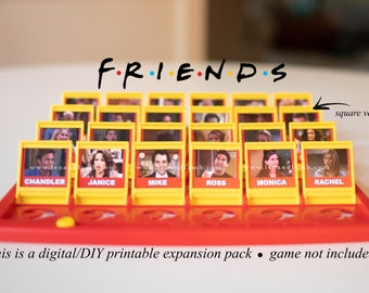 FRIENDS Guess Who Game PRINTABLE Files - Friends TV show - Guess Who Game is not included