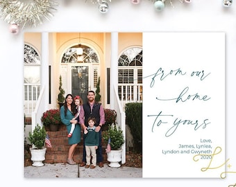From Our Home to Yours Christmas Card - Personalized with your pictures - Printable or Printed