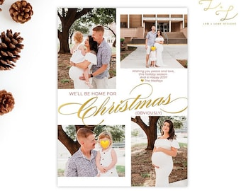 Obviously We'll Be Home for Christmas - Funny 2020 Christmas card - Holiday Card