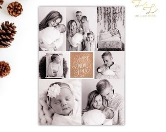 New Year New Baby - Christmas card - Holiday Card