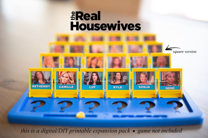 Guess Who Game Printable Files  Real Housewives  New York image 0