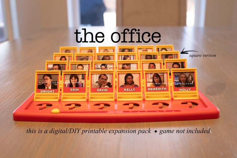 Guess Who Game Printable Files  The Office Guess Who Game  image 0
