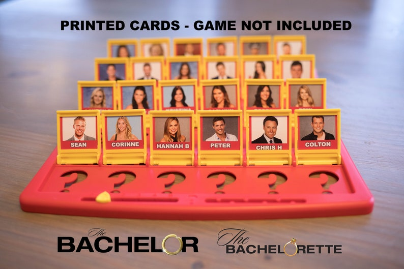 PRINTED VERSION  The Bachelor / The Bachelorette Version image 0