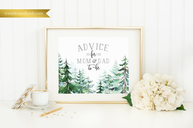 Advice for Mom & Dad  Printable or Printed  8x10  Other image 0