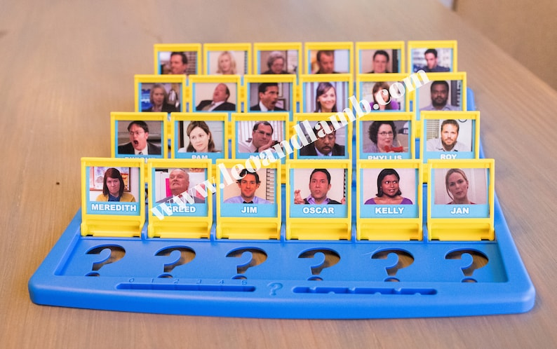 PRINTED VERSION  Guess Who Game  The Office Guess Who Game image 0