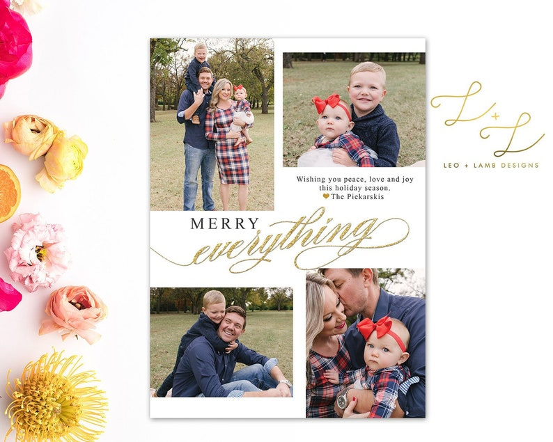 Merry Everything with Four Pictures  Personalized with your image 0