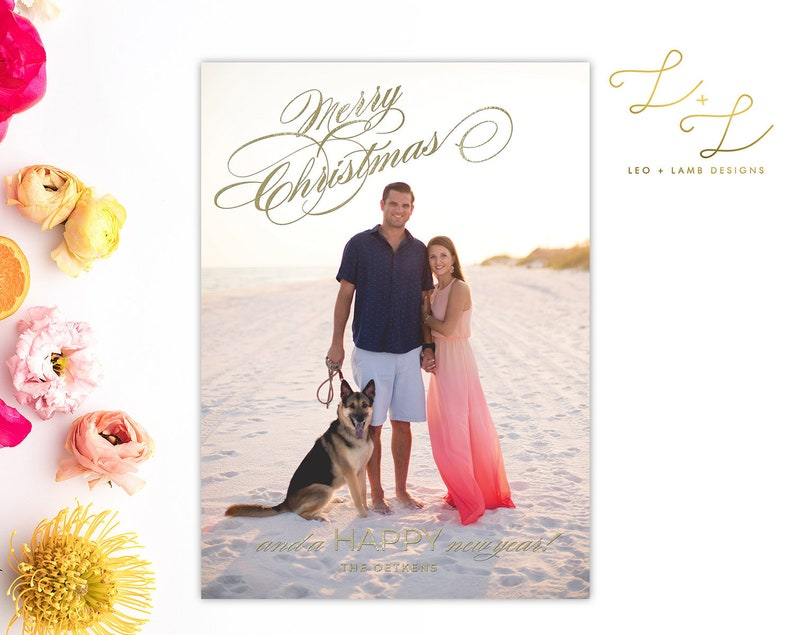 Merry Christmas and a Happy New Year  Holiday Card  Photo image 0