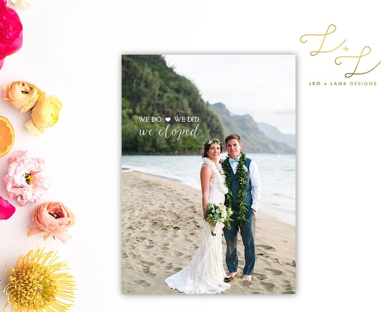 Elopement Announcement  We Do We Did Announcement  Printable image 0