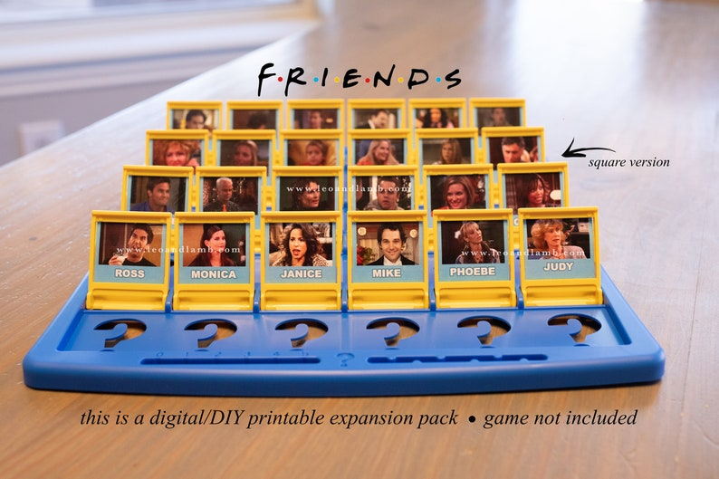 FRIENDS Guess Who Game PRINTABLE Files  Friends TV show  image 0