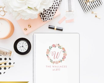 Floral Wreath Notebook - Create your own cute notebook!