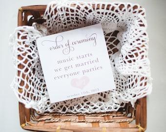 Fun Wedding Program - Music Starts We Get Married Everyone Parties - Digital or Printed