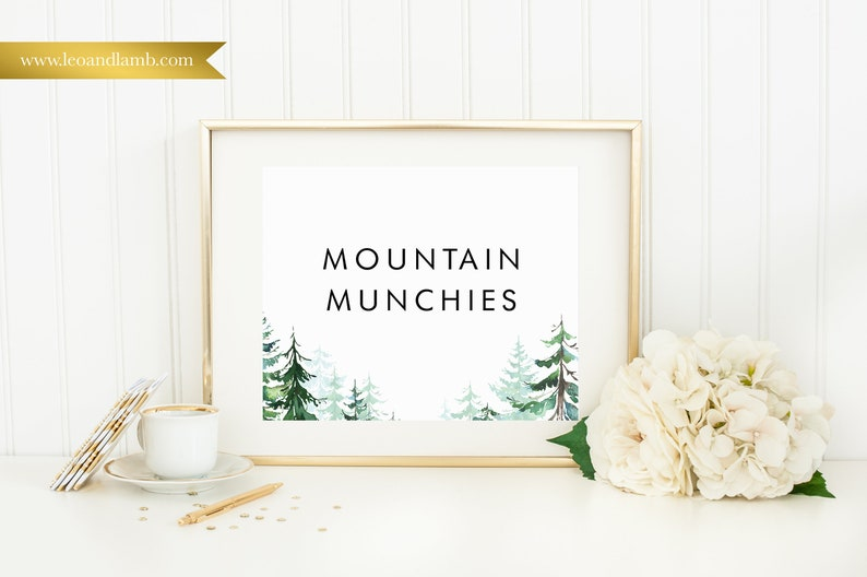 Mountain Munchies  Printable or Printed  8x10  Other sizes image 0