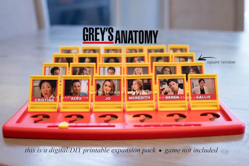 Guess Who Game Printable Files  Grey's Anatomy Version  image 1