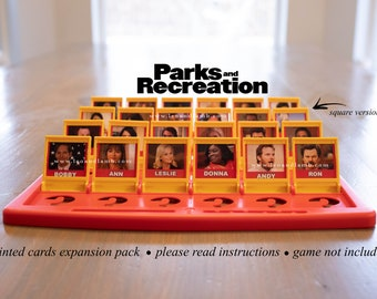 PRINTED CARDS - Parks and Rec Guess Who Game cards - Parks and Recreation TV show - Guess Who Game - Game Not Included