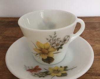 Vintage Pyrex cup and saucer