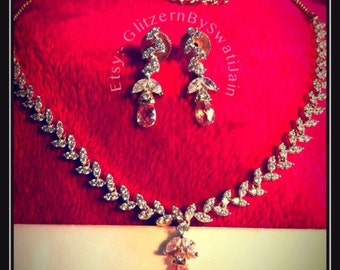 Bridal swarovski necklace set