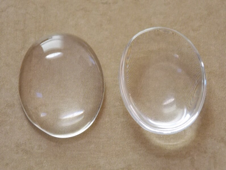 50-22x30mm Oval Glass Cabochons Crystal Clear Glass Dome Oval Cabochons