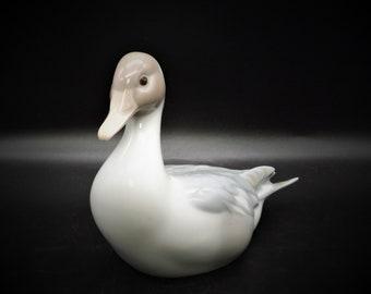 Vintage LLadro Pair Porcelain of Ducks  #1264 Duck Flying  #4553 Duck Retired
