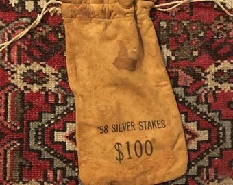 Hundred Dollar Money Bag from 1958 Silver Stakes