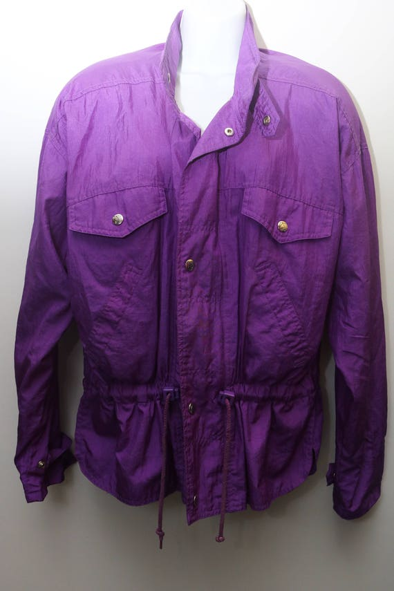 "Rare 80's Vintage ""ANDY JOHNS"" Purple Women's Wind"