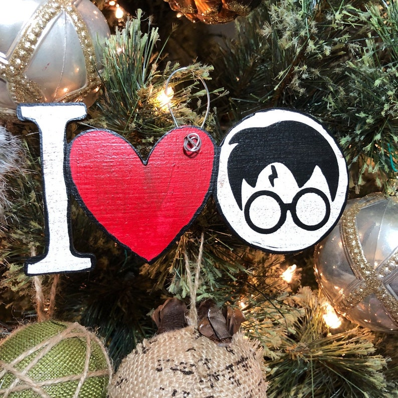 I Heart Harry Potter Christmas Ornament