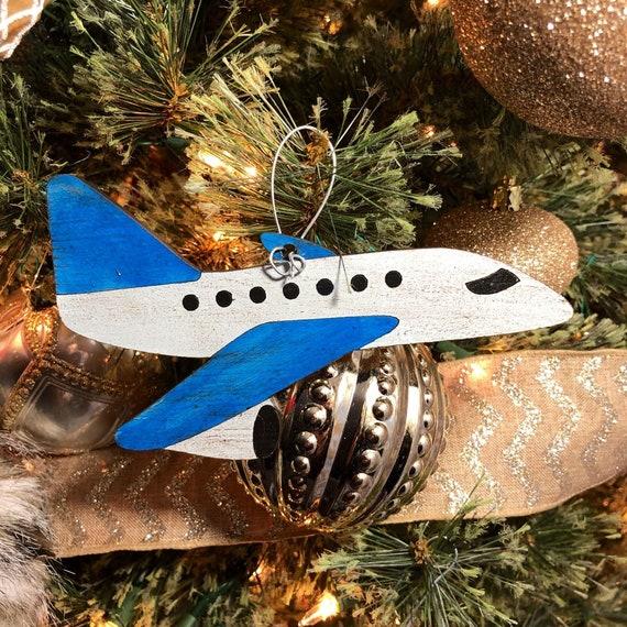image 0 - Airplane Christmas Tree Ornament Etsy