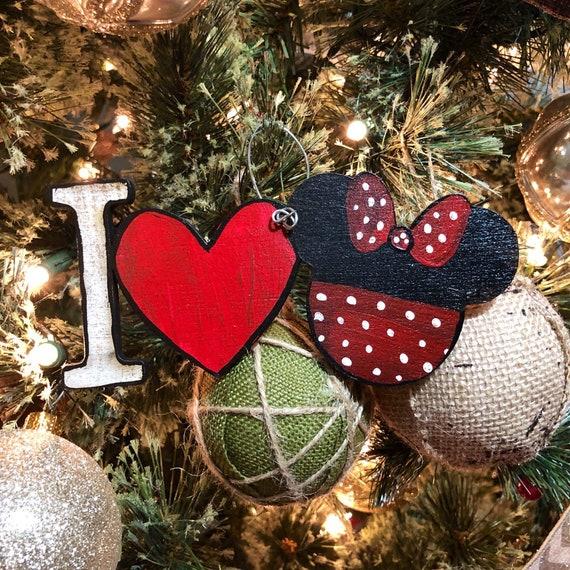 Iheart Christmas.I Heart Minnie Christmas Ornament
