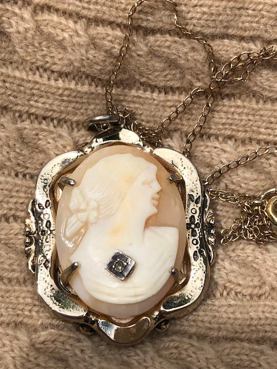 Vintage Coro Cameo Necklace