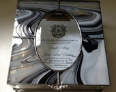 Stained Glass Wedding Invitation Keepsake Box with Beveled Glass Window