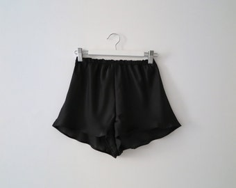 Marilyn High Waisted Shorts in Sheer Black