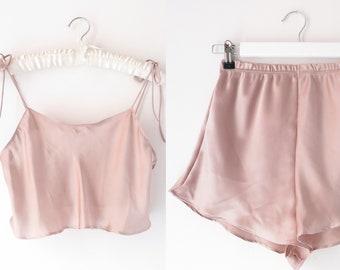 Marilyn silky satin Set in Candy Floss    womens pjs    Bridesmaid PJs    Gifts for her    Pyjamas    Bridal PJS   