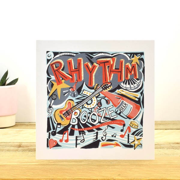 Greeting Card Musician Birthday Cards For