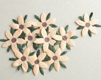 Flat Paper Flowers Etsy