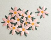 Items Similar To 50mm Pink Die Cut Flowers 10 Flat Mulberry Paper