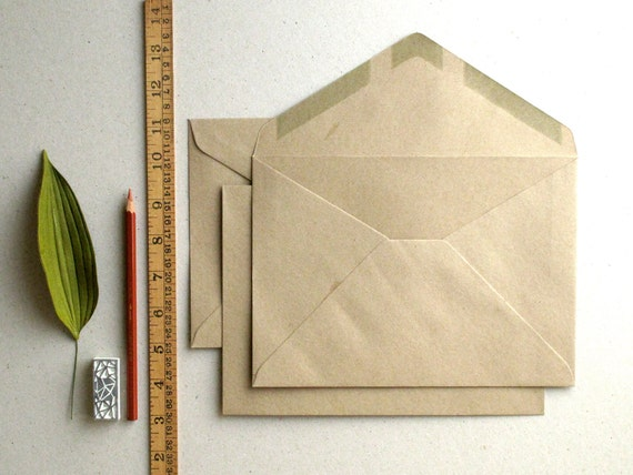 """50 C5 (6 3/8""""x9"""") Brown Kraft Envelopes - Triangle flap - for A5 (half A4) cards and 6""""x8"""" photos"""