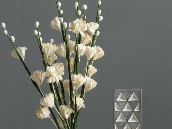 Ivory white gypsophila flowers 10 mulberry paper flowers etsy image 0 mightylinksfo