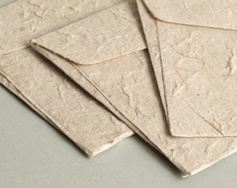 """A7 (5x7 Inch) Mulberry Paper Envelopes - Natural colour (Set of 20) - The actual size is 5""""x7 1/4"""""""