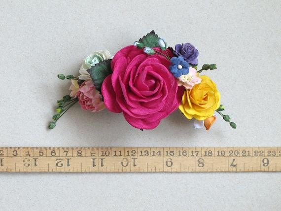 DIY Rose Flower Hair Clips For Women Girl Hairpins Bridal Wedding ... | 428x570