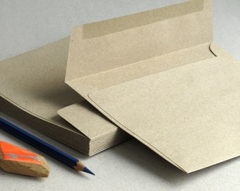 """50 A7 (5x7) Brown Kraft Envelopes - Strait Flap - for 5x7 cards and photos (the actual size is 5 1/4"""" x 7 1/4"""")"""