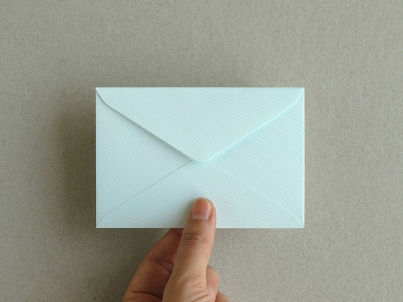 50 blue business card envelopes made of ribbed paper size etsy image 0 colourmoves