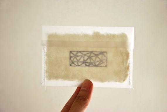 Mini Enveloppes Carte De Visite Translucide Faites Haute