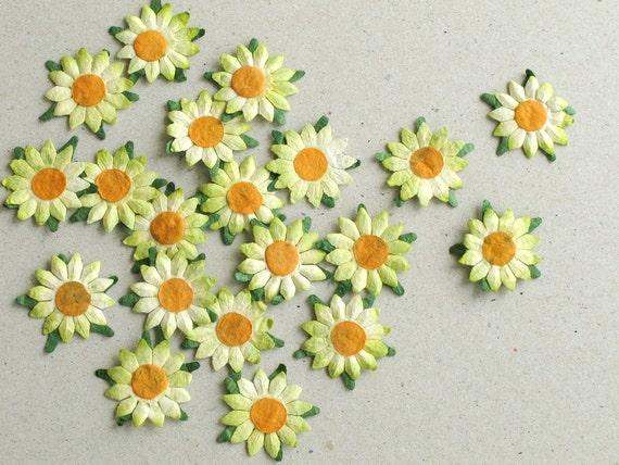 25mm light green die cut flowers 20 flat paper flower with mightylinksfo