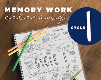 Cycle 1 COMPLETE pack of memory work coloring pages (5th edition)