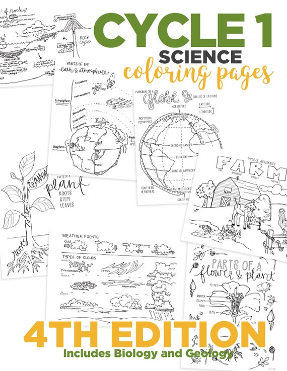 4th Edition Cycle 1 Science Coloring Pages Etsy