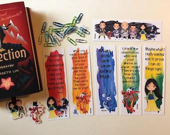 Princess Mulan Inspired Bookmarks - Mulan Movie Bookmarks