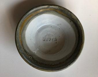 Handmade Ceramic Cat or Small Dog Water Bowl